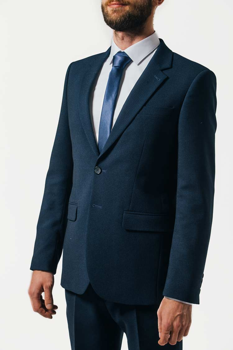 Темно-синий мужской костюм  Темно Синий Костюм Рубашка